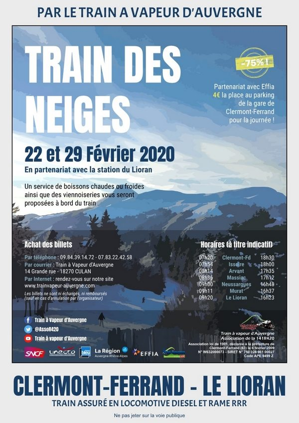 Affiche Train des Neiges