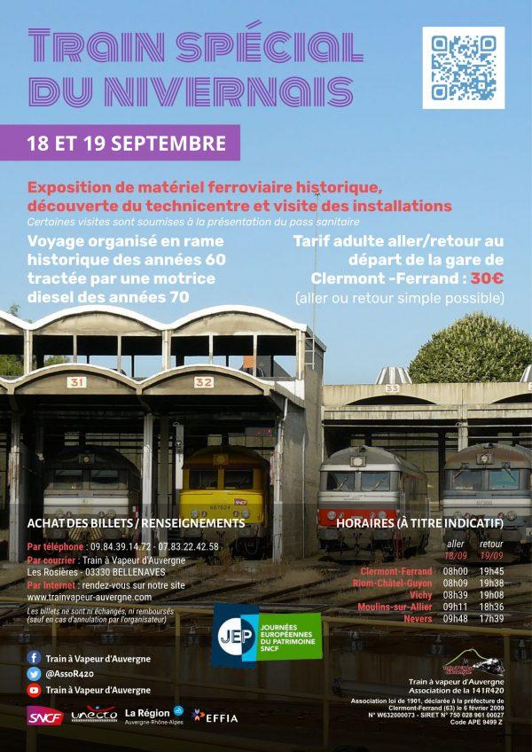 Affiche Train spécial du Nivernais