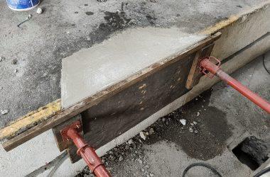 Séchage mortier