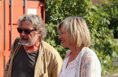 Chantal Ladesou et réalisateur