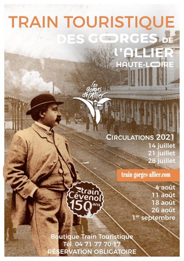 Affiche Train Touristique des Gorges de l'Allier 2021