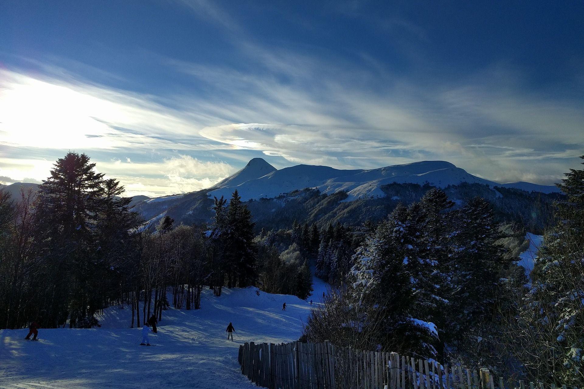 Station ski Lioran neige